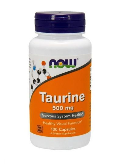 Now Foods, Taurin, 500 mg, 100 Kapseln