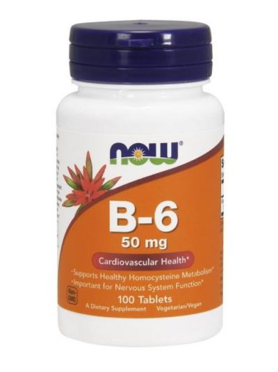 Now Foods, B6, 50 mg, 100 Tabletten