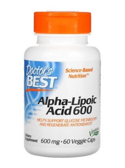 Doctor's Best Alpha-Liponsäure, 600 mg, 60 vegetarische Kapseln