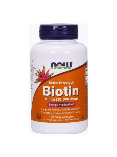 Now Foods Biotin extra stark 10 mg (10.000 mcg) 120 vegetarische Kapseln