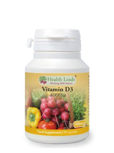 HEALTH LEADS VITAMIN D3 4000 IU HYPOALLERGEN 90 KAPSELN