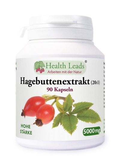 Health Leads Hagebuttenextrakt 20:1 5000mg 90 Kaps