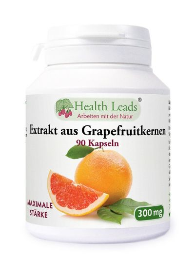 Health Leads Grapefruitkernen Extrakt 300mg x 90 Kaps