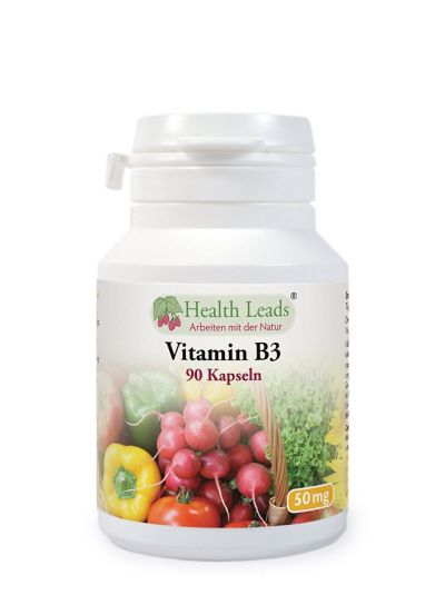 HEALTH LEADS Vitamin B3 Niacin 50 Mg x 90 Kapseln