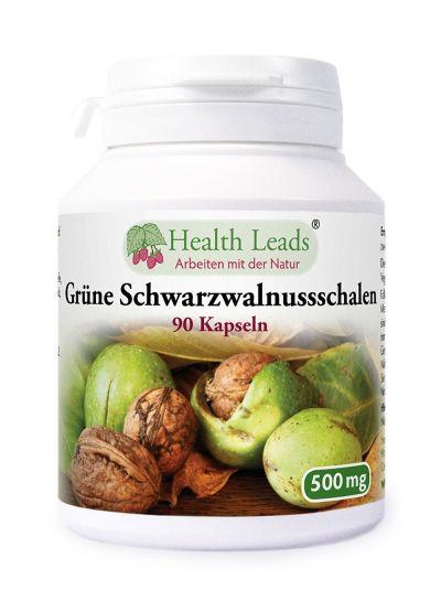 Health Leads Schwarzwalnuss Schale 500mg x 90 Kaps