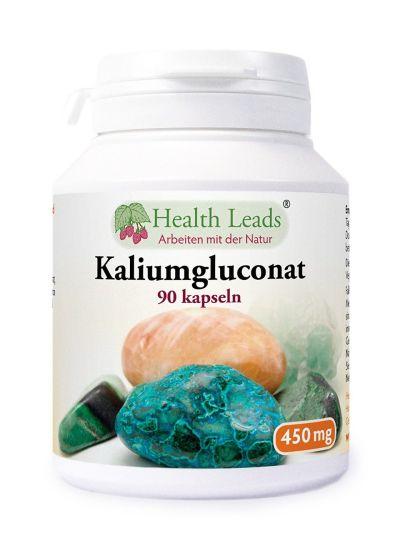 HEALTH LEADS KALIUM GLUCONAT 500MG X 90 KAPSELN