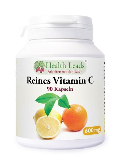 Health Leads Vitamin C 600mg x 90 Kapseln