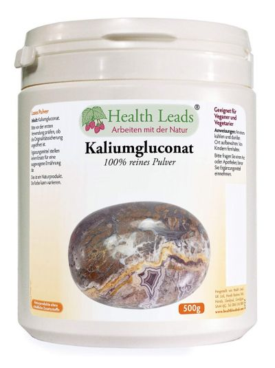 Health Leads Kaliumgluconat 500g Loses Pulver
