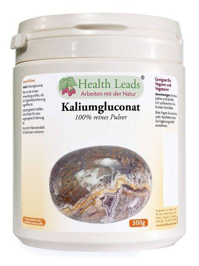 HEALTH LEADS KALIUMGLUCONAT 500G LOSES PULVER