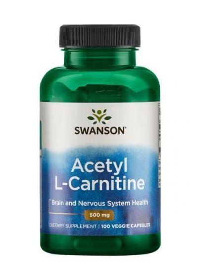Swanson Acetyl L-Carnitine 500 mg 100 Kapseln