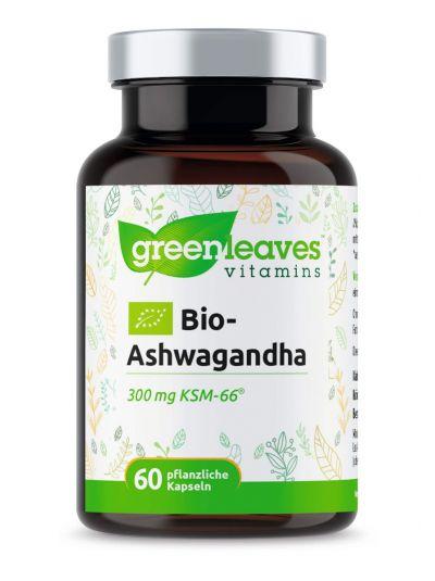 Green Leaves Bio-Ashwagandha 300 mg KSM-66® 60 vegetabilische Kapseln
