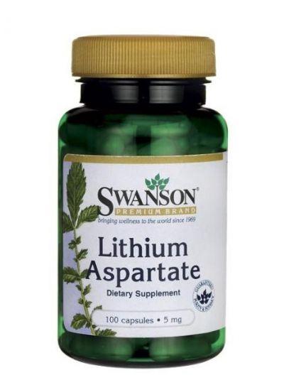 Swanson Lithium Aspartate 5 mg 100 Kapseln