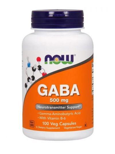 Now Foods GABA 500 mg mit B6 100-200 pflanzliche Kapseln