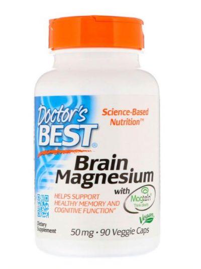 Doctor's Best Gehirn Magnesium mit Magtein 50 mg 90 vegetarische Kapseln