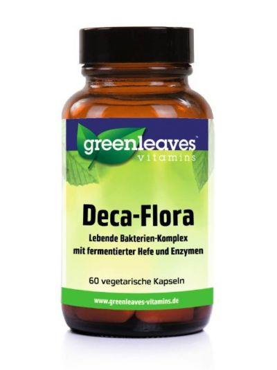 Green Leaves DECA-FLORA LEBENDE BAKTERIEN-Enzym-KOMPLEX 60 Kaps