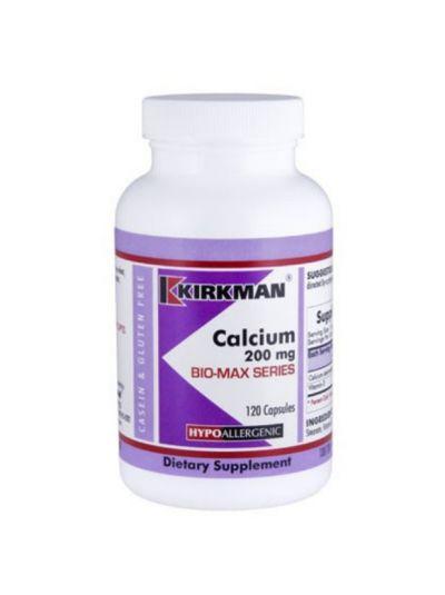 Kirkman Labs Kalzium m. Vitamin D 200 mg 120 Kapseln - Hypoallergen