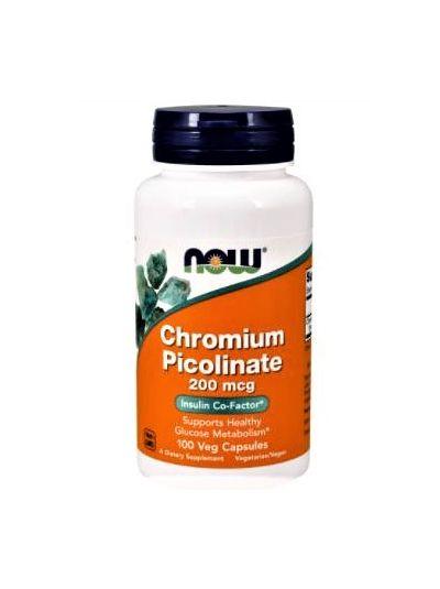 Now Foods Chrompicolinat 200 mcg 100 Kapseln