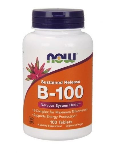 Now Foods B-100 Langsame Freisetzung 100 Tabletten