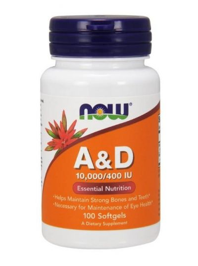 Now Foods Vitamin A&D 10.000/400 IU, 100 Softgelkapseln