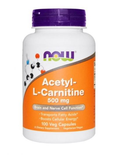 Now Foods Acetyl-L-Carnitine 500 mg 100 Veg Capsules