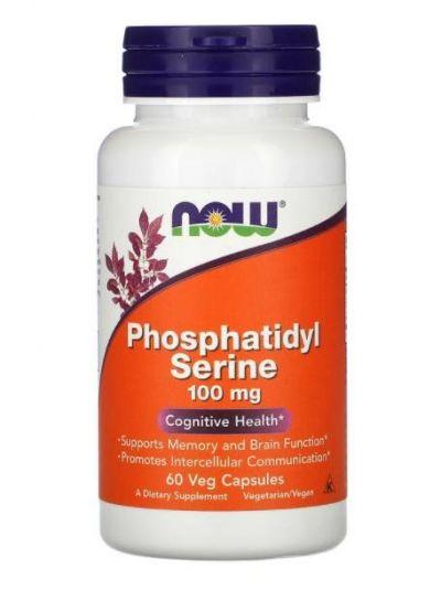 Now Foods Phosphatidyl Serine (mit Inositol und Cholin), 100 mg, 60 Veg Kapseln