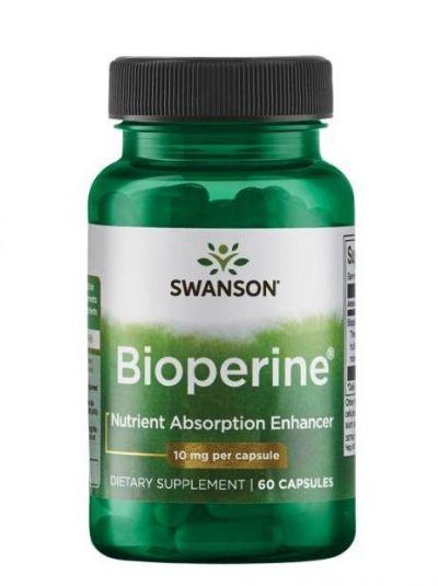 Swanson BioPerine Schwarzer Pfeffer Nährstoffabsorptionsverstärker 10 mg 60 Kapseln
