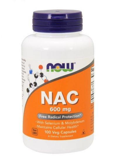 Now Foods NAC 600 mg mit Molybdän und selen 100 pflanzliche Kapseln