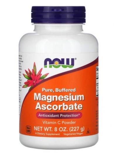 Now Foods Magnesiumascorbat, rein, gepuffert, 227 g