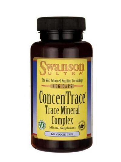 Swanson ConcenTrace Spurenelementkomplex Mikromineralien mit Lithium 60 Kapseln