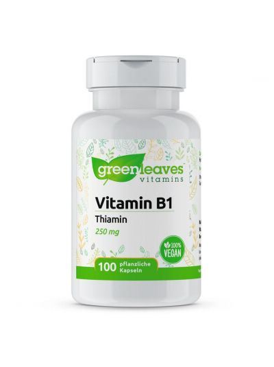 gREEN LEAVES VITAMIN B1 (THIAMIN) 250 MG 100 Kapseln