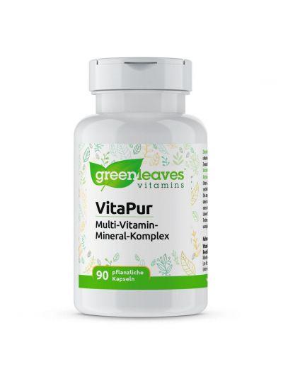 Green Leaves Vitamins Vitapur multi mit lutein und ohne Zusatzstoffe 90 Kapseln