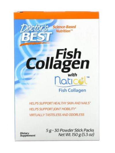 Doctor's Best Fischkollagen mit Naticol, 5 g, 30 Pulver Stick Packeten