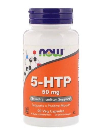 Now Foods 5-HTP 50 mg 90 Kapseln