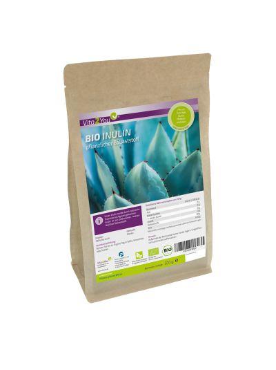 Vita2You Bio Inulin Pulver - Präbiotikum - ökologischer Anbau - Glutenfrei 500g