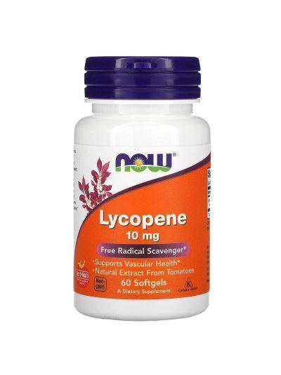 Now Foods Lycopin / Lycopen, 10 mg, 60 Softgel Kapseln