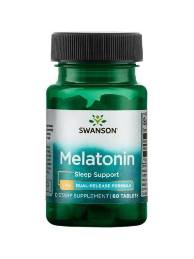 Swanson Melatonin Dual-Release Formula, 60 Tablette