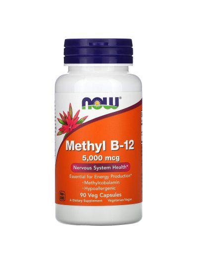 Now Foods, Methyl B-12, 5.000 mcg, 90 Vegetarische Kapseln