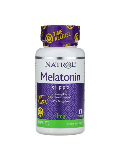 Natrol, Melatonin, Time Release, 1 mg, 90 Tabletten