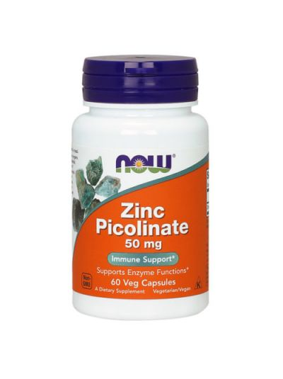 Now Foods Zinc Picolinate 50mg 60 vcaps
