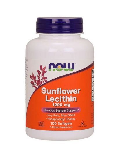 NOW FOODS SONNENBLUMEN LECITHIN 1.200 MG 100 SOFTGELS