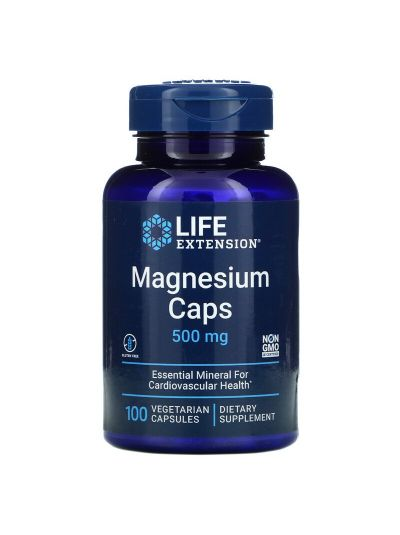 LIFE EXTENSION MAGNESIUM 500 MG 100 VEGETARISCHE KAPSELN
