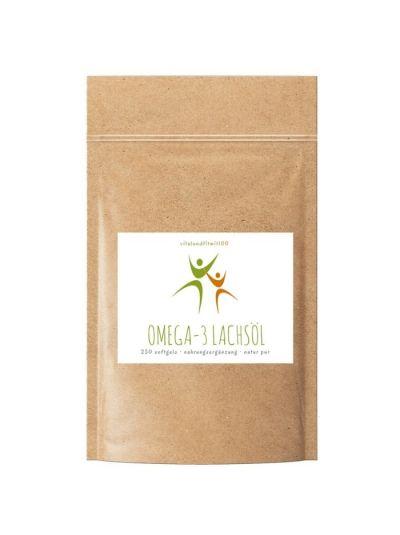 Vitalundfitmit100 Omega3 Lachsöl 250 Softgelkapseln à 500 mg