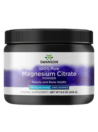 Swanson Magnesiumcitratpulver 100% reines, nicht aromatisiert, 244g