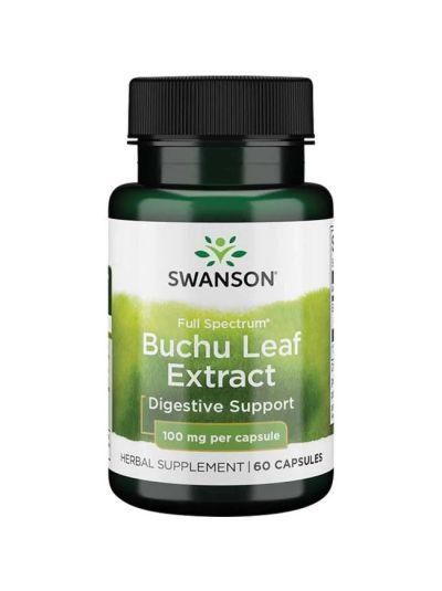 Swanson Vollspektrum Buchu Blatt Extrakt 4:1, 100 mg 60 Kapseln
