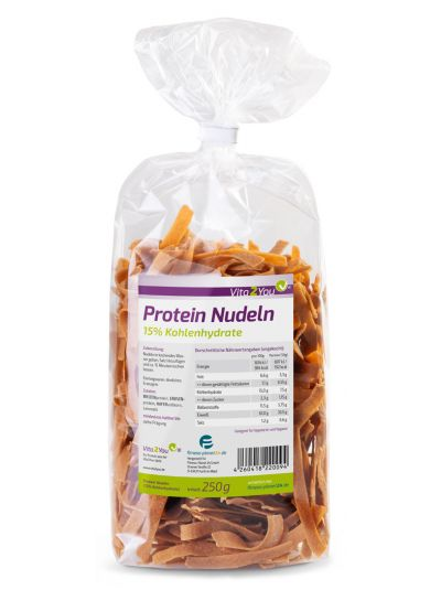 Vita2You Protein Nudeln 250g - 61% Eiweiss - Nur 15% Kohlenhydrate 250 g