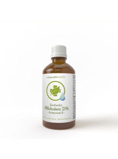 Vitalundfitmit 100 Milchsäure 21 % L(+)- Milchsäure (rechtsdrehend) 100 ml Braunglas