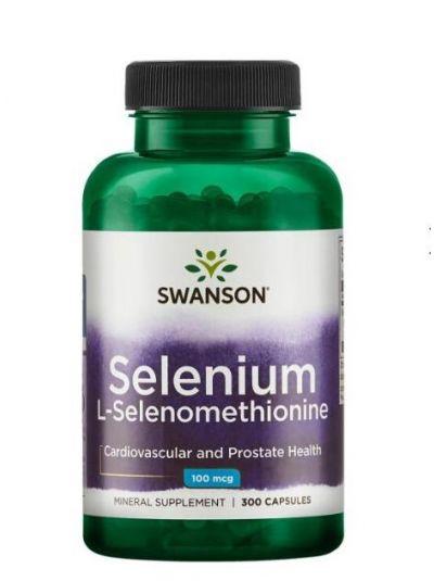 Swanson Selen (L-Selenomethionin) 100 mcg 300 Kapseln