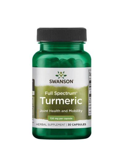 Swanson Premium- Vollspektrum-Kurkuma 720 mg 30 Kapseln