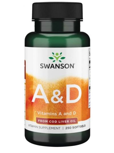 Swanson Premium-Vitamine A & D 250 Kapseln